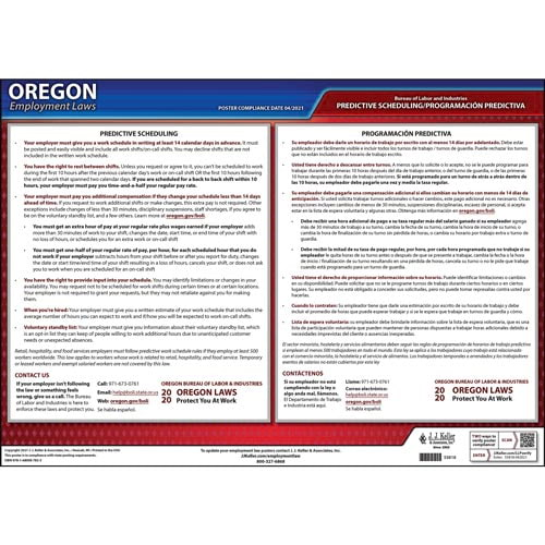 Oregon Employee Work Schedules Poster (014140)