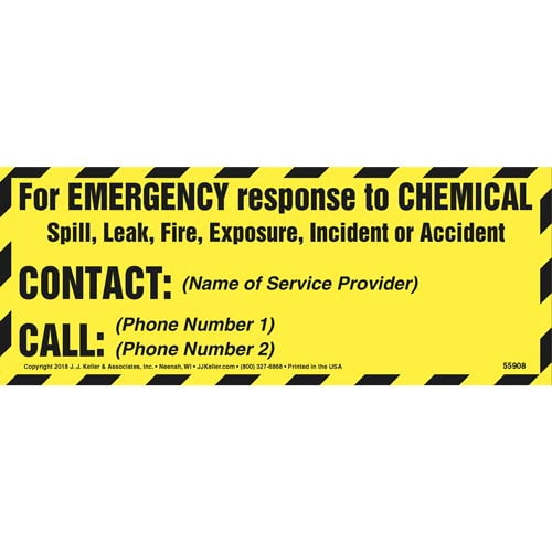 Chemical Emergency Label (014255)