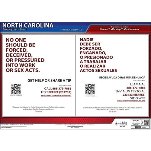 North Carolina Human Trafficking Poster (014363)