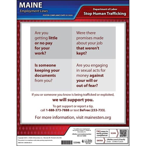 Maine Human Trafficking Poster (014364)