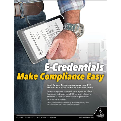 E-Credentials Make Compliance Easy - Motor Carrier Safety Poster (014264)