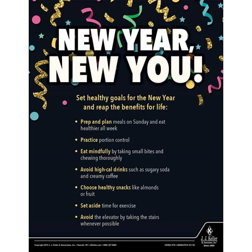 New Year New You - Health & Wellness Awareness Poster (014265)