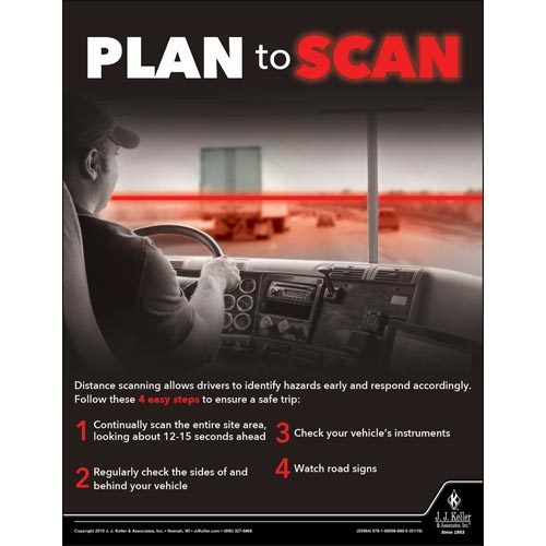 Plan To Scan - Transportation Safety Poster (014267)