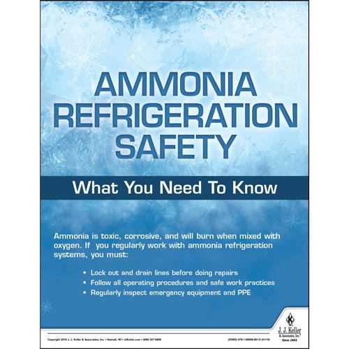 Ammonia Refrigeration Safety - Workplace Safety Training Poster (014268)