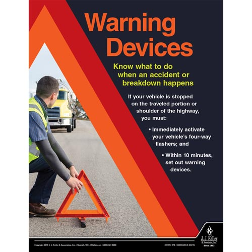 Warning Devices - Driver Awareness Safety Poster (014283)