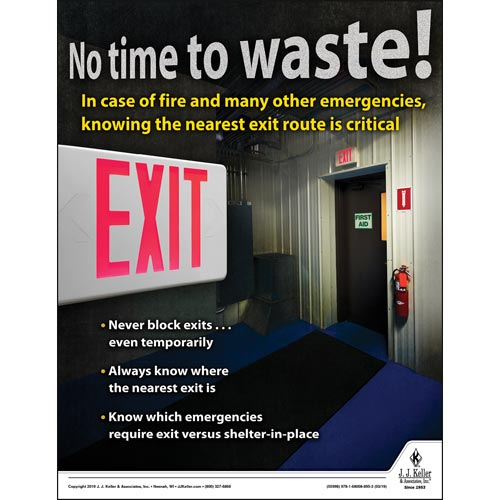 No Time To Waste - Workplace Safety Advisor Poster (014287)