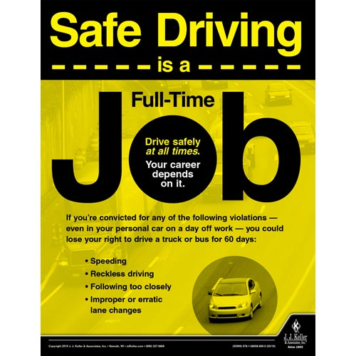 Safe Driving is a Full-Time Job - Motor Carrier Safety Poster (014288)