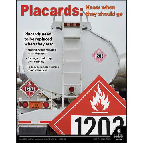 Placards: Know When They Should Go - Hazmat Transportation Poster (014274)