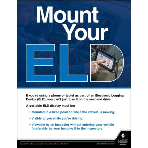 Mount Your ELD - Motor Carrier Safety Poster (014276)