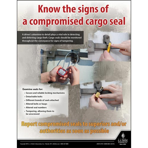Know The Signs of a Compromised Cargo Seal - Transport Safety Risk Poster (014279)