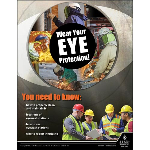 Wear Your Eye Protection - Construction Safety Poster (014282)