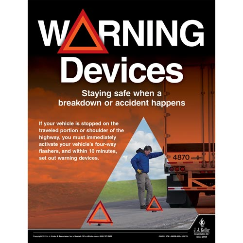 Warning Devices - Transportation Safety Poster (014292)