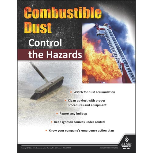 Combustible Dust Control The Hazards - Workplace Safety Training Poster (014293)