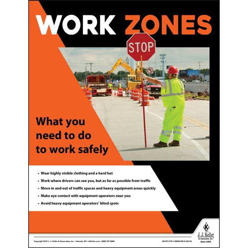 Work Zones - Construction Safety Poster (014401)