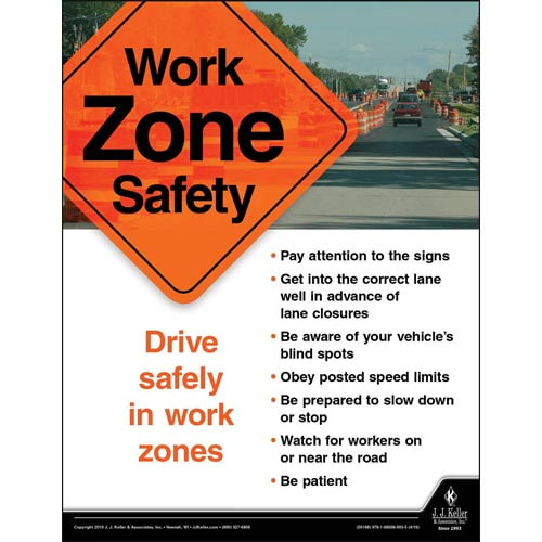 Work Zone Safety - Driver Awareness Safety Poster (014402)