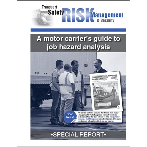Special Report - A Motor Carriers Guide to Job Hazard Analysis (012898)