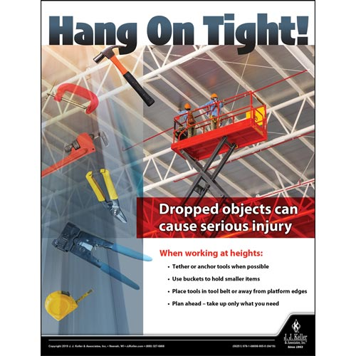 Hang On Tight - Workplace Safety Training Poster (014405)