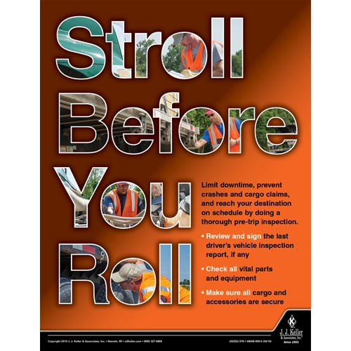 Stroll Before You Roll - Motor Carrier Safety Poster (014406)