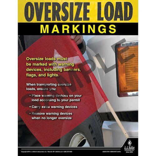Oversize Load Markings - Motor Carrier Safety Poster (014407)