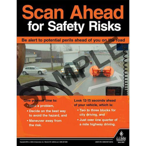 Scan Ahead for Safety Risks - Transport Safety Risk Poster (014409)