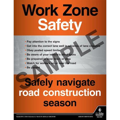 Work Zone Safety - Transportation Safety Poster (014410)