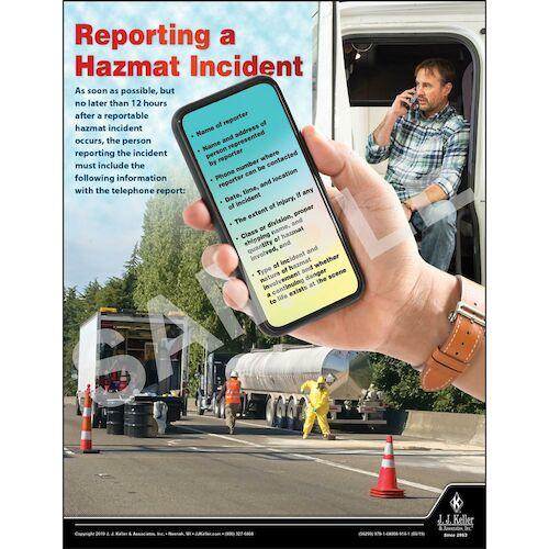 Reporting a Hazmat Incident - Hazmat Transportation Poster (014415)