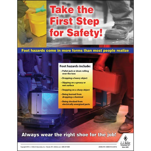 Take The First Step For Safety - Workplace Safety Training Poster (014416)
