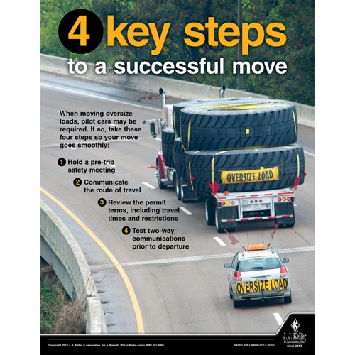 Four Key Steps To a Successful Move - Motor Carrier Safety Poster (014418)