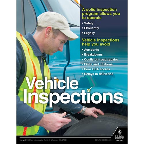 Vehicle Inspections - Transportation Safety Poster (014421)