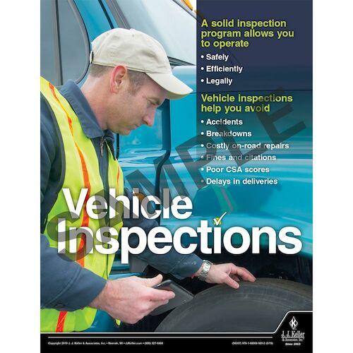 Roadside Inspection Results Show Risky Driving Habits - Transport Safety Risk Poster (014420)