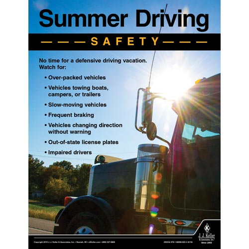 Summer Driving Safety - Driver Awareness Safety Poster (014428)