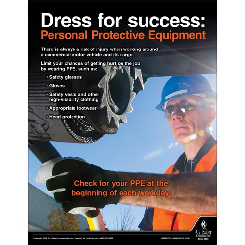 Dress for Success: Personal Protective Equipment - Transport Safety Risk Poster (014435)