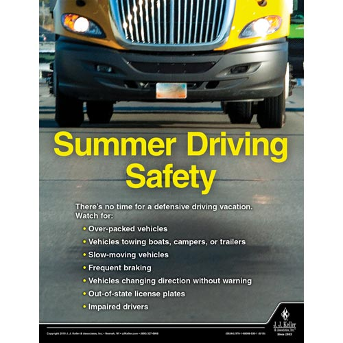 Summer Driving Safety - Transportation Safety Poster (014436)