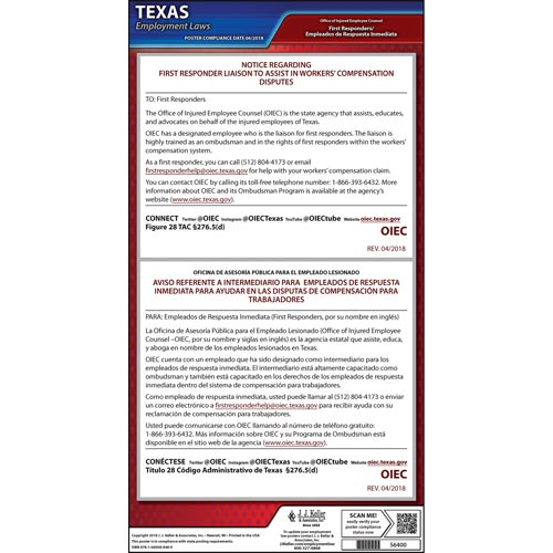 Texas First Responder Liaison Poster (014540)