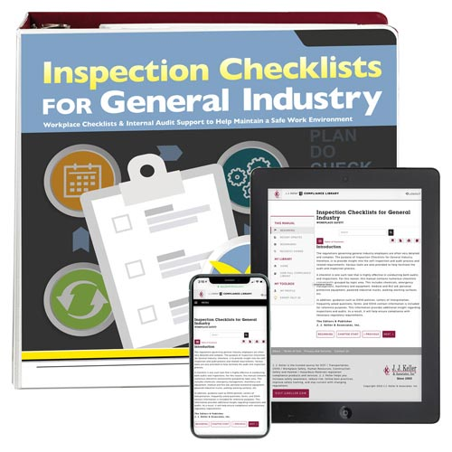 Inspection Checklists for General Industry Manual (014583)