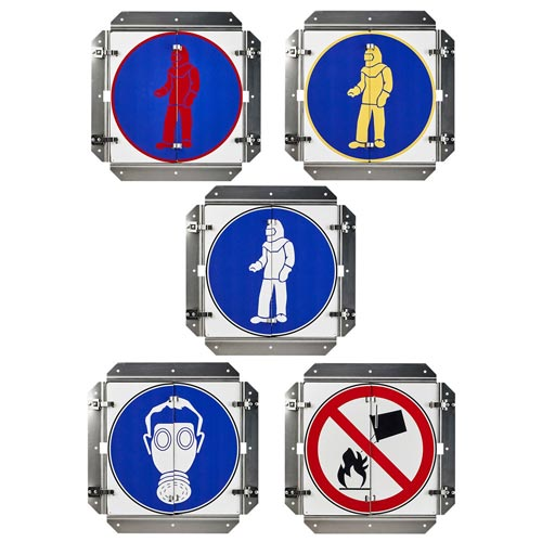 Department of Defense Chemical Hazard Flip Signs (014588)