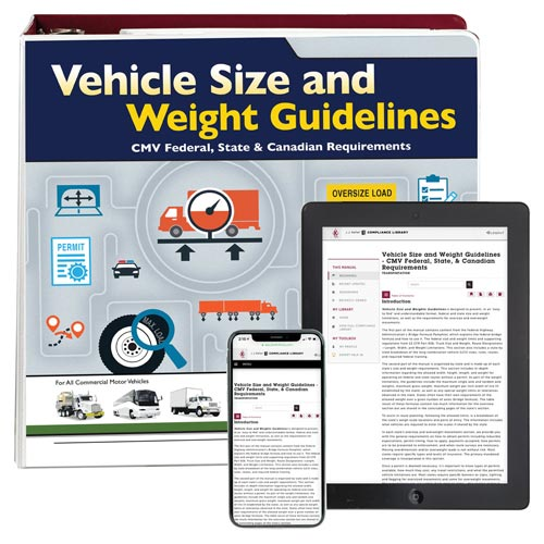 Vehicle Size and Weight Guidelines Manual (01420)