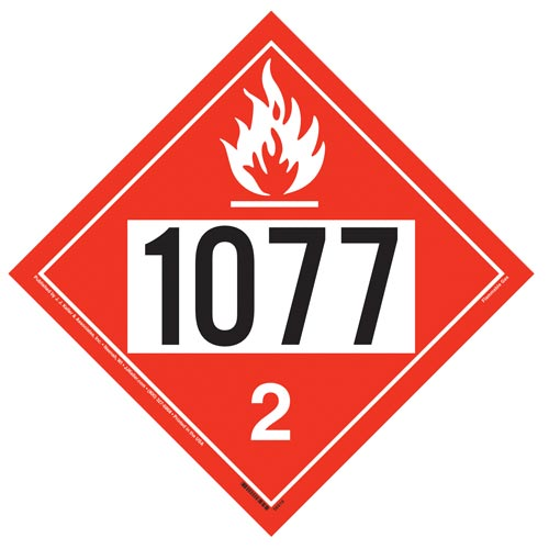 1077 Placard - Division 2.1 Flammable Gas (014621)