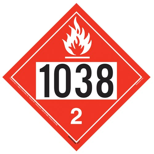 1038 Placard - Division 2.1 Flammable Gas (014610)