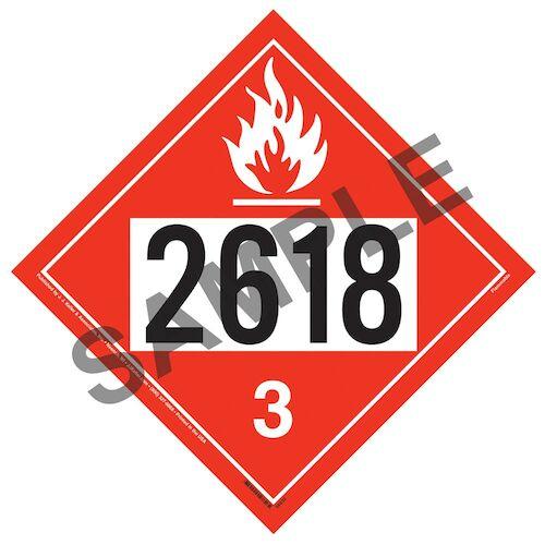 2618 Placard - Class 3 Flammable Liquid (014613)