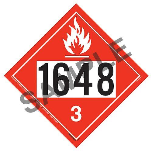 1648 Placard - Class 3 Flammable Liquid (014616)