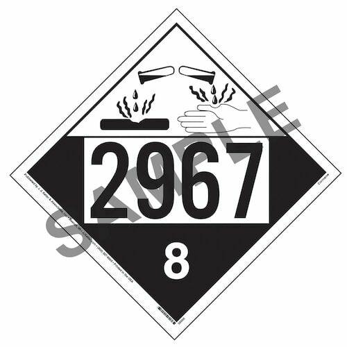 2967 Placard - Class 8 Corrosive (014629)