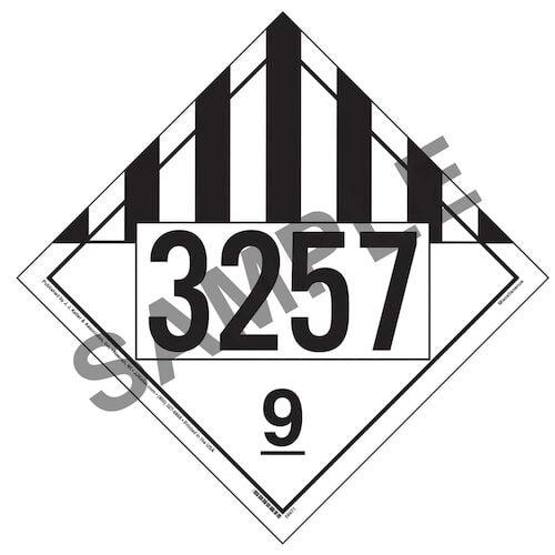 3257 Placard - Class 9 Miscellaneous (014635)