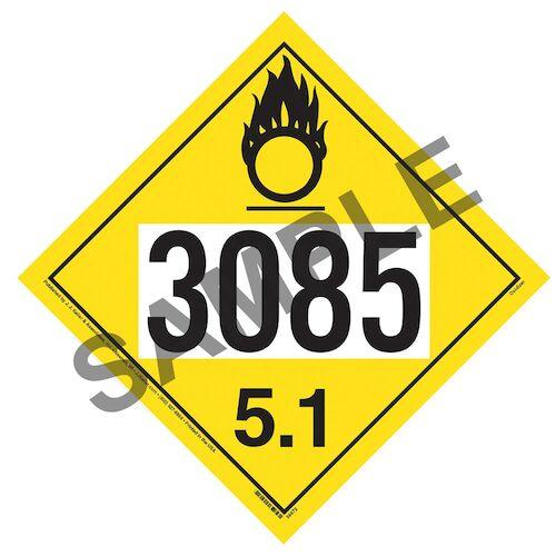 3085 Placard - Division 5.1 Oxidizer (014636)
