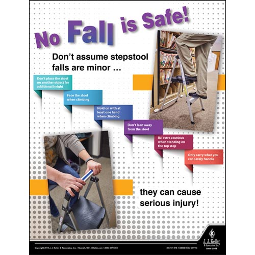 No Fall is Safe - Workplace Safety Training Poster (014659)