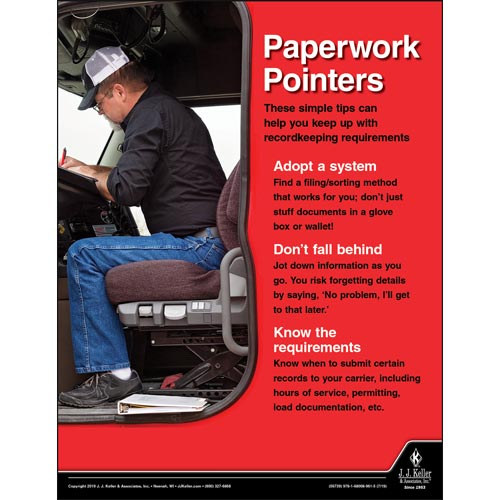 Paperwork Pointers - Motor Carrier Safety Poster (014661)