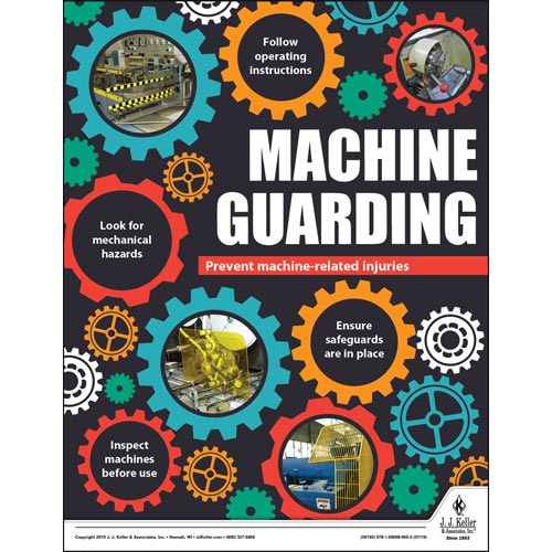 Machine Guarding - Workplace Safety Training Poster (014665)