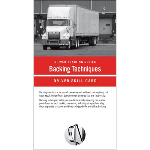 Backing Techniques: Driver Training Series - Driver Skills Cards (014796)
