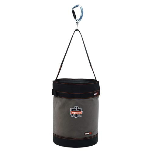 Swiveling Carabiner Canvas Hoist Bucket with Top (014807)