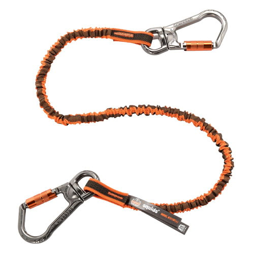 Double-Locking Dual Carabiner with Swivel - 25 lb. Capacity (014837)